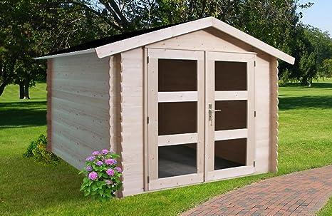 Cobertizo lommel de madera Picea macizas | Jardín Hogar con techo cartón | Caseta Natural Sin