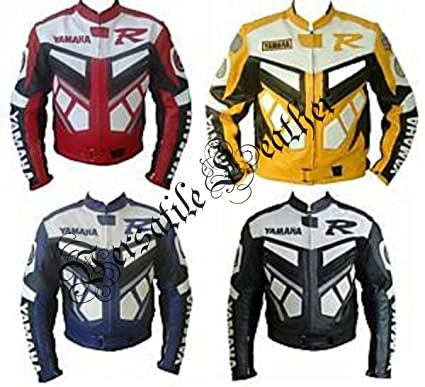 Cazadora de piel Yamaha R para motocicleta de carreras ...