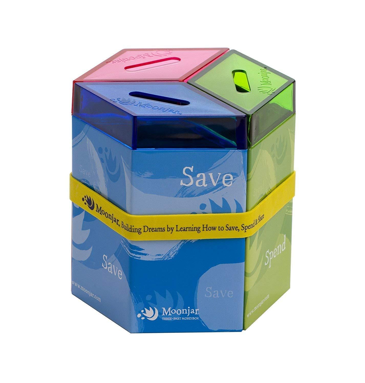 Moonjar Classic Save Spend Share Tin Moneybox by Moonjar (Image #2)