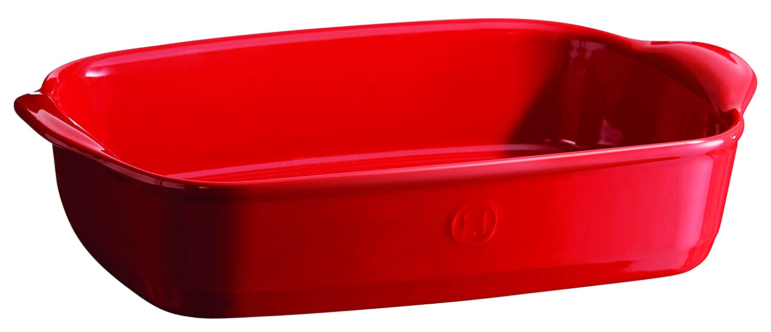 Emile Henry 349650 France Ovenware Ultime Rectangular Baking Dish, 11.4 x 7.5, Burgundy