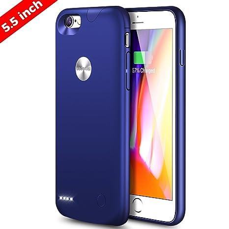 DOGIDOLI iPhone 6 Plus funda Cargador dogidoli 3000 mAh Ultra delgada Extended Battery Case Estuche de Carga Portátil para iPhone 6 6S plus