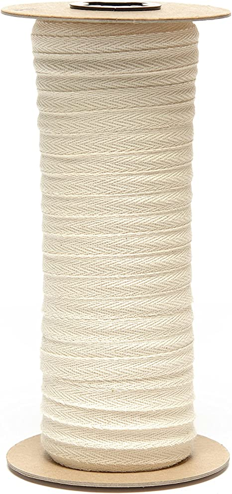 Light Weight - 72 Yards The Ribbon Factory USA Made 1//4 Natural Cotton Twill Tape Multiple Widths Available