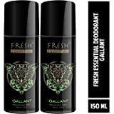 Fresh Essential Deodorant - Gallant, 150 ml (Pack of 2)