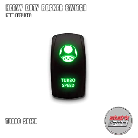 Amazon.com: TURBO SPEED - Green - STARK 5-PIN Laser Etched ...