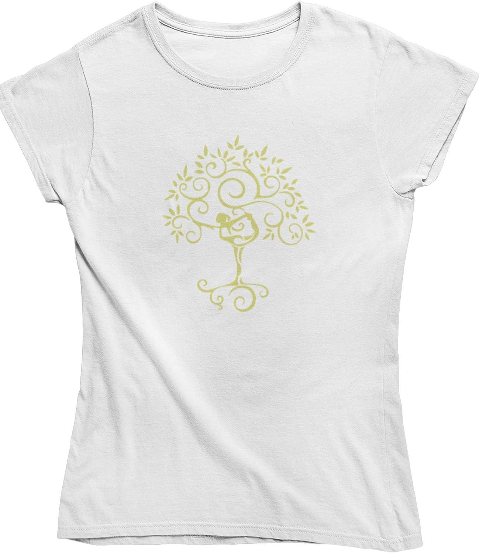 Womens Yoga top Live2Inspire Tree Yoga Pose Ladies Yoga T Shirt Y24 Spiritual Clothing Yoga Clothing