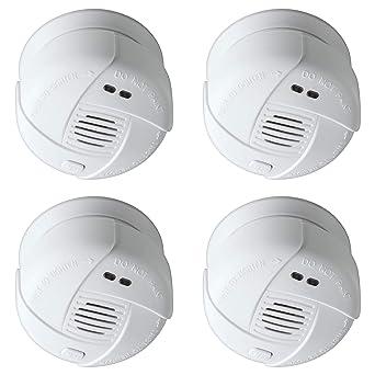 Sebson 4X Mini Detector de Humo 10 años, DIN EN 14604, VDS 3131,