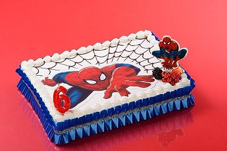 Spiderman Tortenaufleger 26 X 16 Cm Dekoration Fur Kuchen Zum