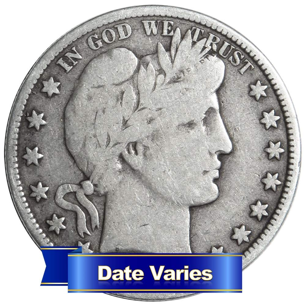 Average Circulated Barber Half Dollar 1 Date Varies Half Dollar Circulated