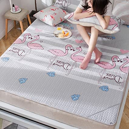 Amazon.com: Summer sleeping mat Washed 1.2m Bed Folding Ice ...