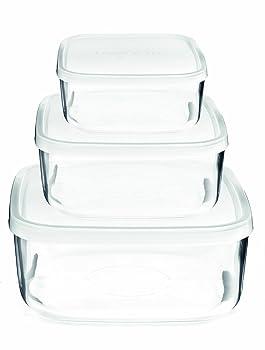 Bormioli Rocco Square Glass Food-Storage Containers