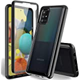 HATOSHI Samsung Galaxy A51 Case with Built in Screen Protector - NOT for A51 5G Version, Heavy Duty Protection, Crystal Clear