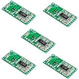 Lzndeal 5 Pcs Rcwl-0516 micro-ondes Radar détecteur de mouvement module de commutation du corps humain Induction pour Arduino,Capteur de mouvement haute précision