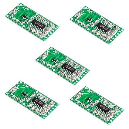 Coomir 5 PCS Sensor de Radar de microondas RCWL-0516 módulo de conmutación Detector de