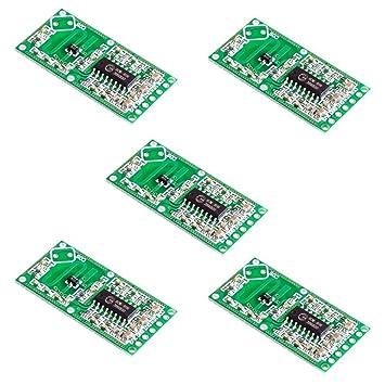 Hrph 5 PCS sensor de radar de microondas RCWL-0516 módulo de ...