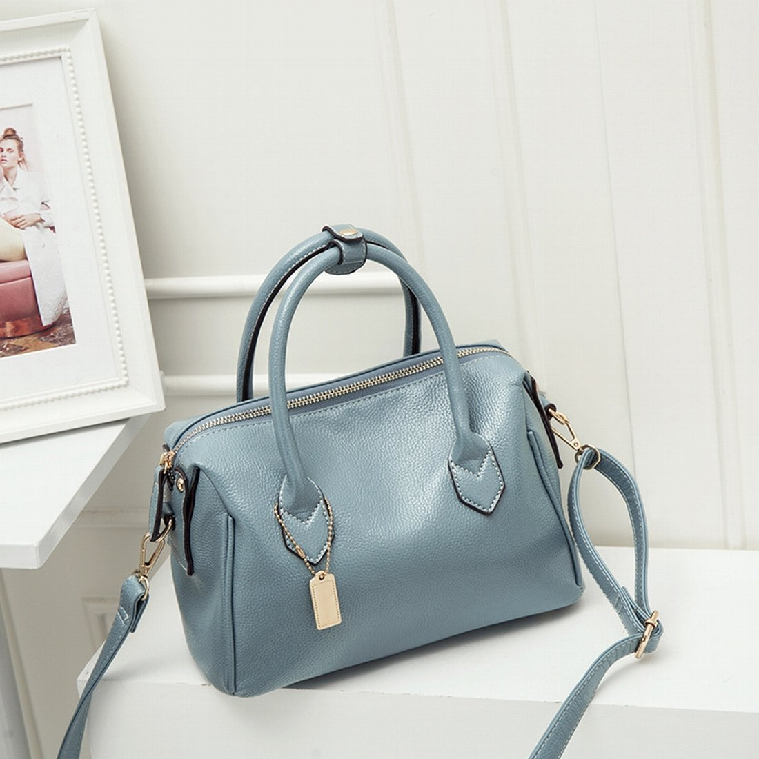 Frauen Retro Ladies Ladies Handy schräg Fashion Boston Big Bag