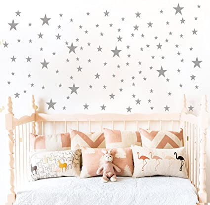 Easma Star Wall Decals 3 Size Stars 132pcs Decals Kids Nursery Wall Room  Decor Peel
