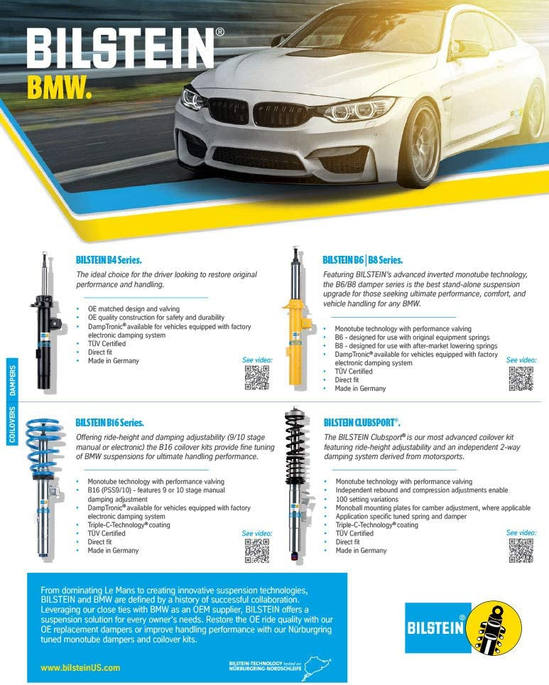 BuyAutoParts 75-85790B0 New For BMW 745i 745Li 2002-2005 2007 2008 Pair Bilstein B4 Front Shocks Struts