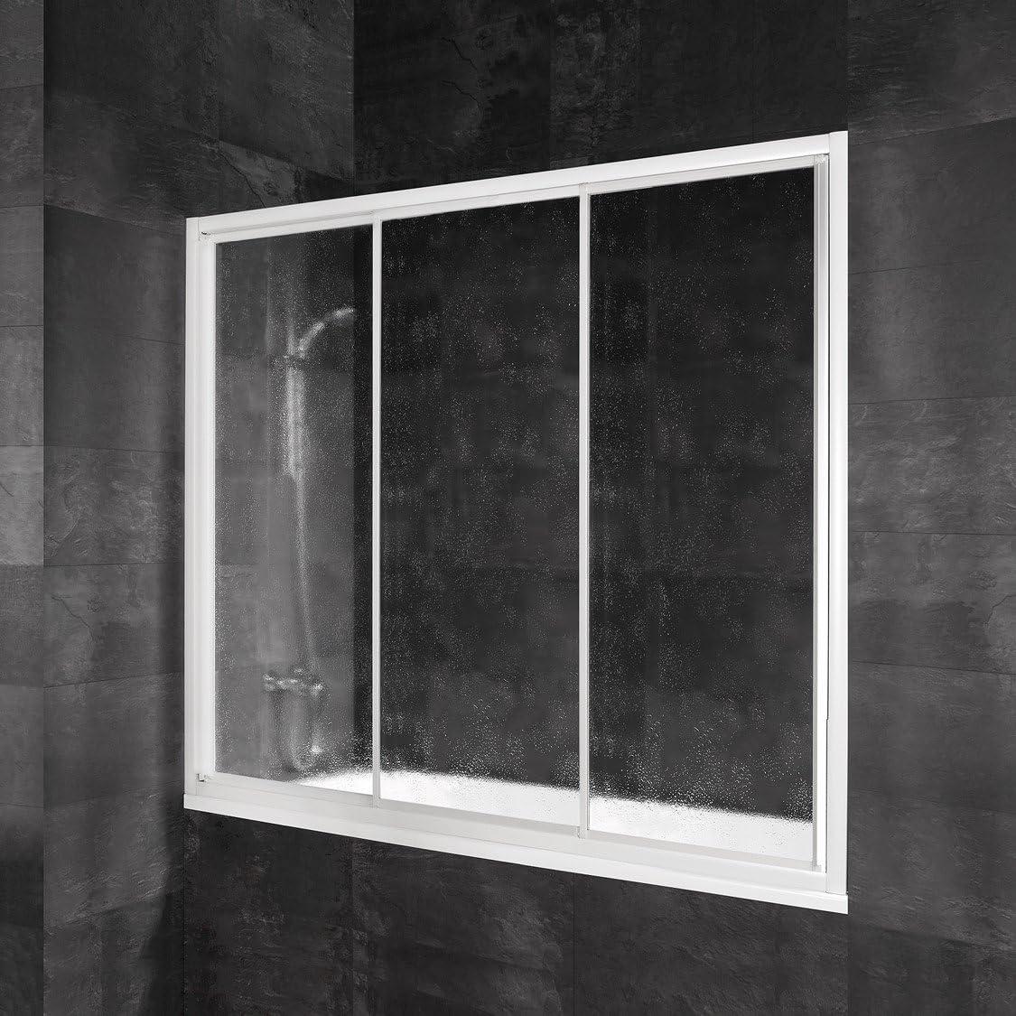 Schulte 4060991034077 mampara ducha deslizante, color blanco, 180 ...