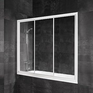 Schulte 4060991034077 mampara ducha deslizante, color blanco, 180 x 150 cm: Amazon.es: Bricolaje y herramientas