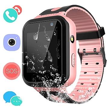 Montre Connectée Enfant IP67 Etanche - AGPS +LBS Tracker écran Tactile Smartwatch Phone Con Appareil