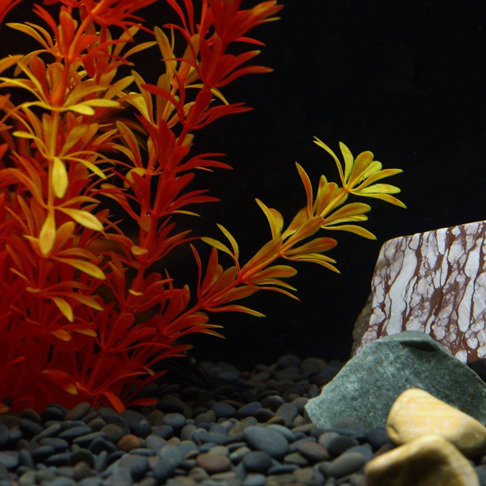 OWIKAR Aquarium Plants High Imitation Aquatic Plants Yellow Lifelike Stratified Fish Tank Artificial Decor Landscape Plastic Water Plants 11.8inch 15.7inch 19.7inch Large Size (50cm/19.7inch) by OWIKAR (Image #2)