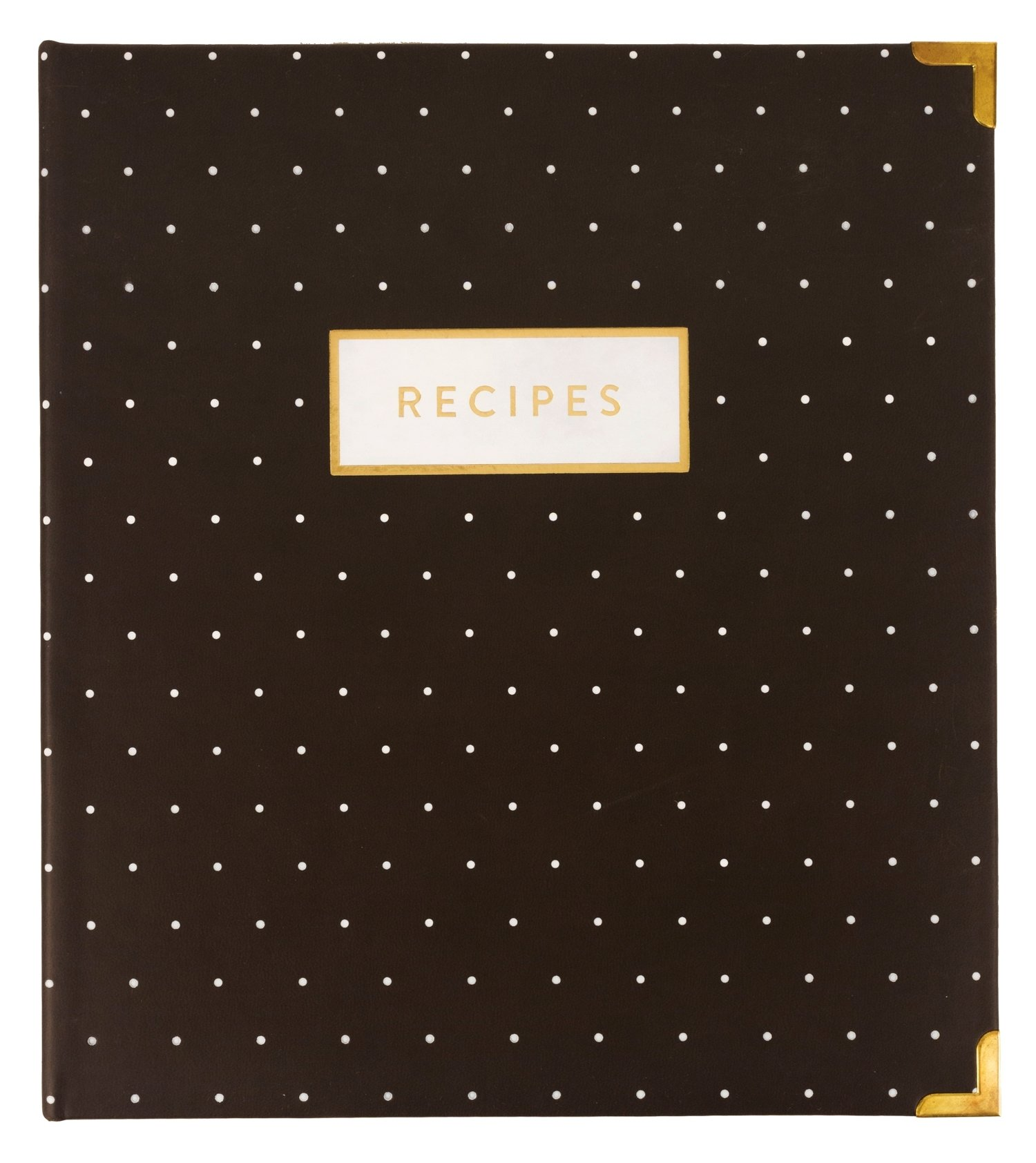 Eccolo World Traveler Gray Pin Dot Recipe Keeper