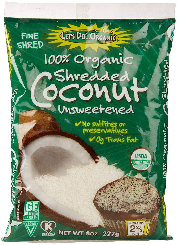 Let's Do...Organic Shredded Coconut, Food Service Size, 22 Pound Bag