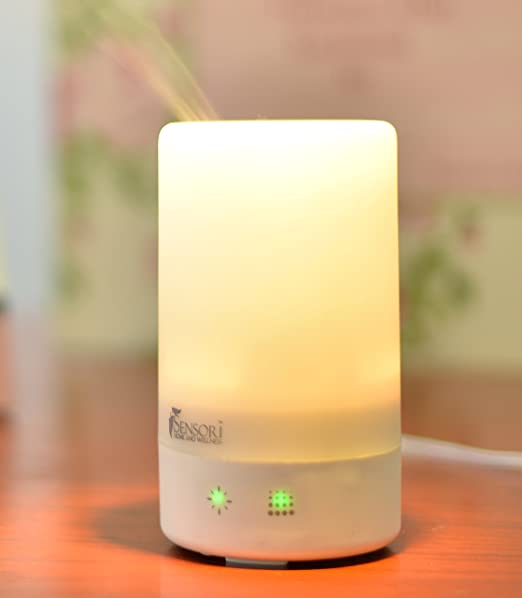 Sensori Aromatherapy Diffuser Humidifier - Portable Essential Oil Diffuser and Humidifier with Changing Colored Lights and Auto Shut-off (100ml)