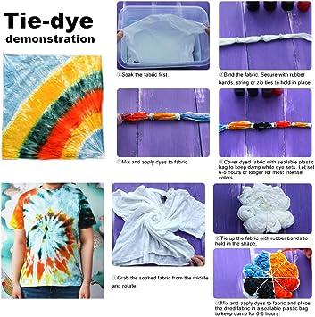 imoli Tie Dye Kit - 18 Colores Vibrantes Pinturas Textiles de Tela ...