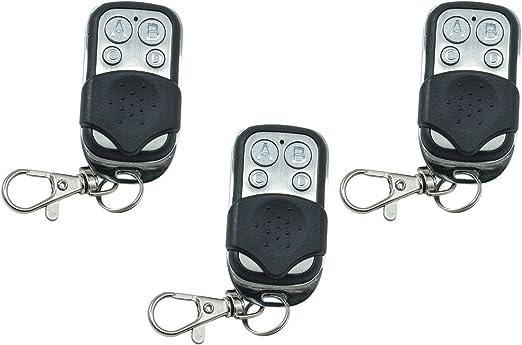 3 mandos a distancia universales para puertas automáticas, frecuencia 433,92 MHz, código fijo: Amazon.es: Electrónica