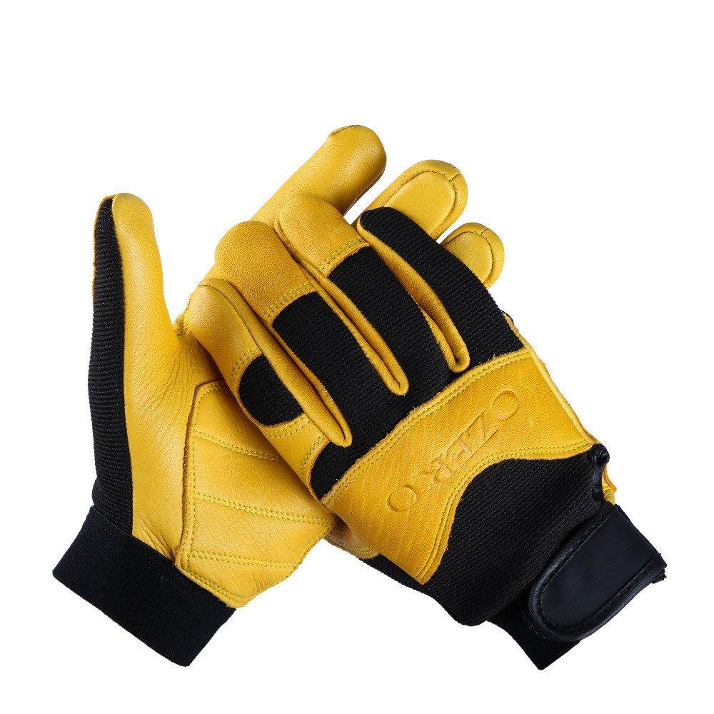 Baoffs Motorrad-Fahrradhandschuhe Vollfinger Radfahren Handschuhe für Motorrad Klettern Wandern Jagd Outdoor Sports Gear Handschuhe für Radfahren Klettern im Freien (Farbe   Gelb, Größe   M)
