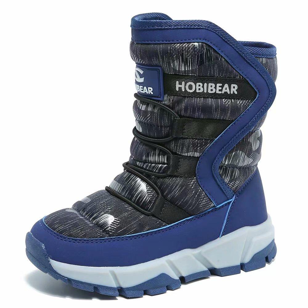 GUBARUN Boys Snow Boots Kids Outdoor Warm Shoes Waterproof (Blue 5.5)