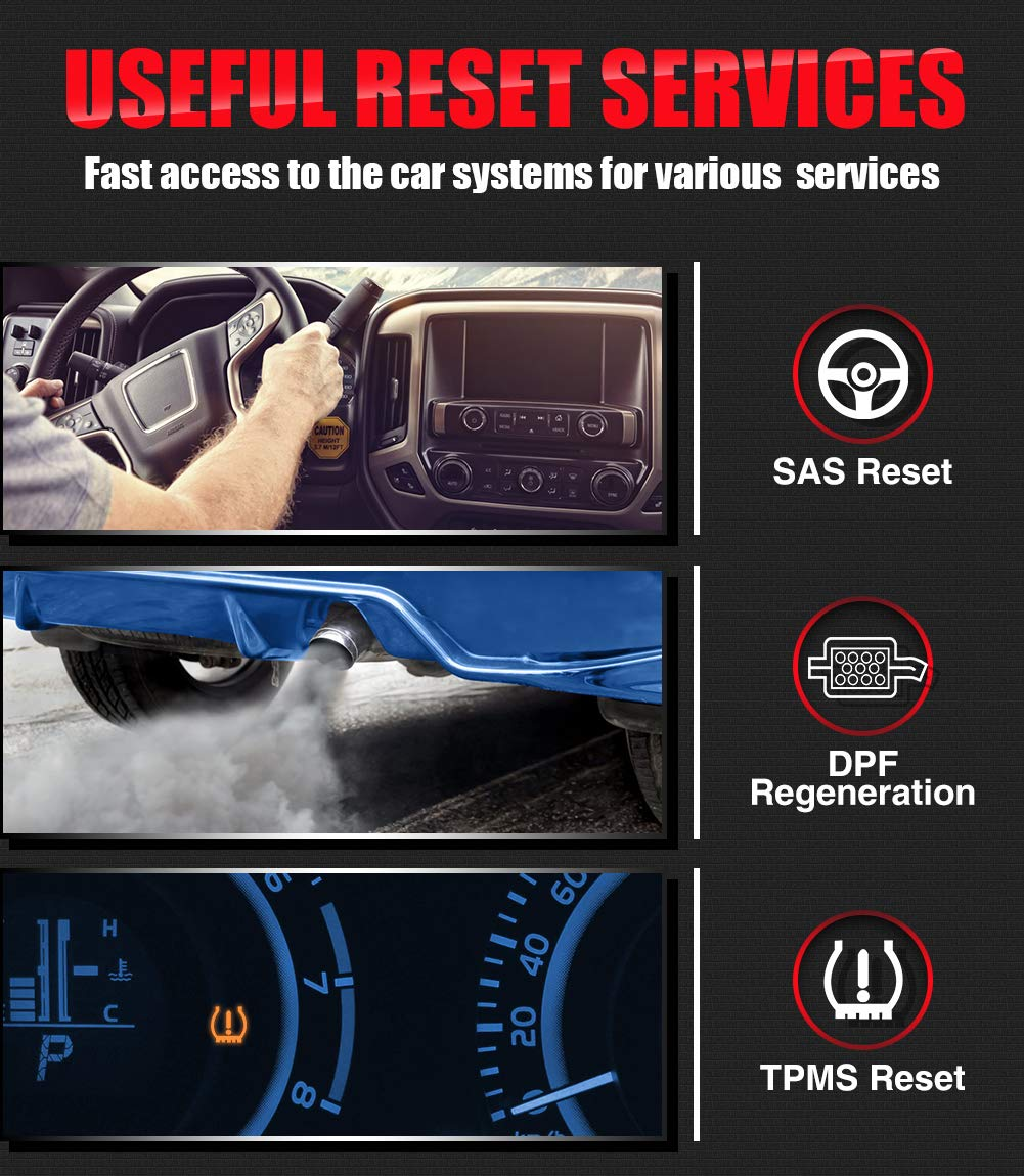 Oil reset and EPB/BMS/SAS/ DPF, basic TPMS service