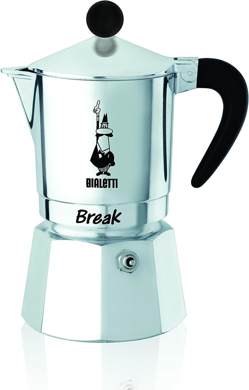 Bialetti Break - Cafetera expreso de 1 Taza, Negra, de Aluminio ...