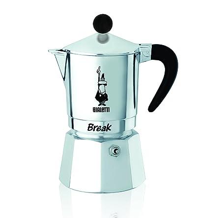 Bialetti Break - Cafetera Espresso de Aluminio para 6 Tazas - Dimensiones 16 x 11 x 23 cm