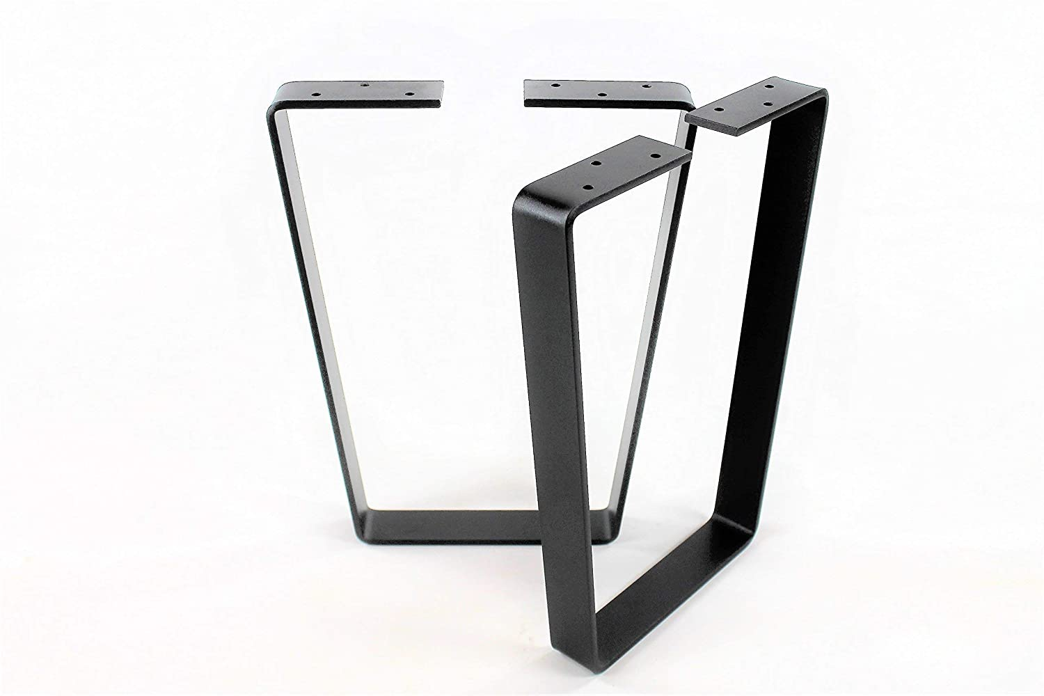Wide Top Trapezoid Steel Bench Legs-Choose Your Height and Width