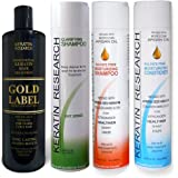 Gold Label Professional Brazilian Keratin Blowout Hair Treatment Super Enhanced Formula Specifically Designed for Coarse…