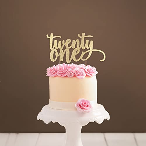Pleasant Twenty One Cake Topper 21 Cake Topper 21St Birthday Party Funny Birthday Cards Online Chimdamsfinfo
