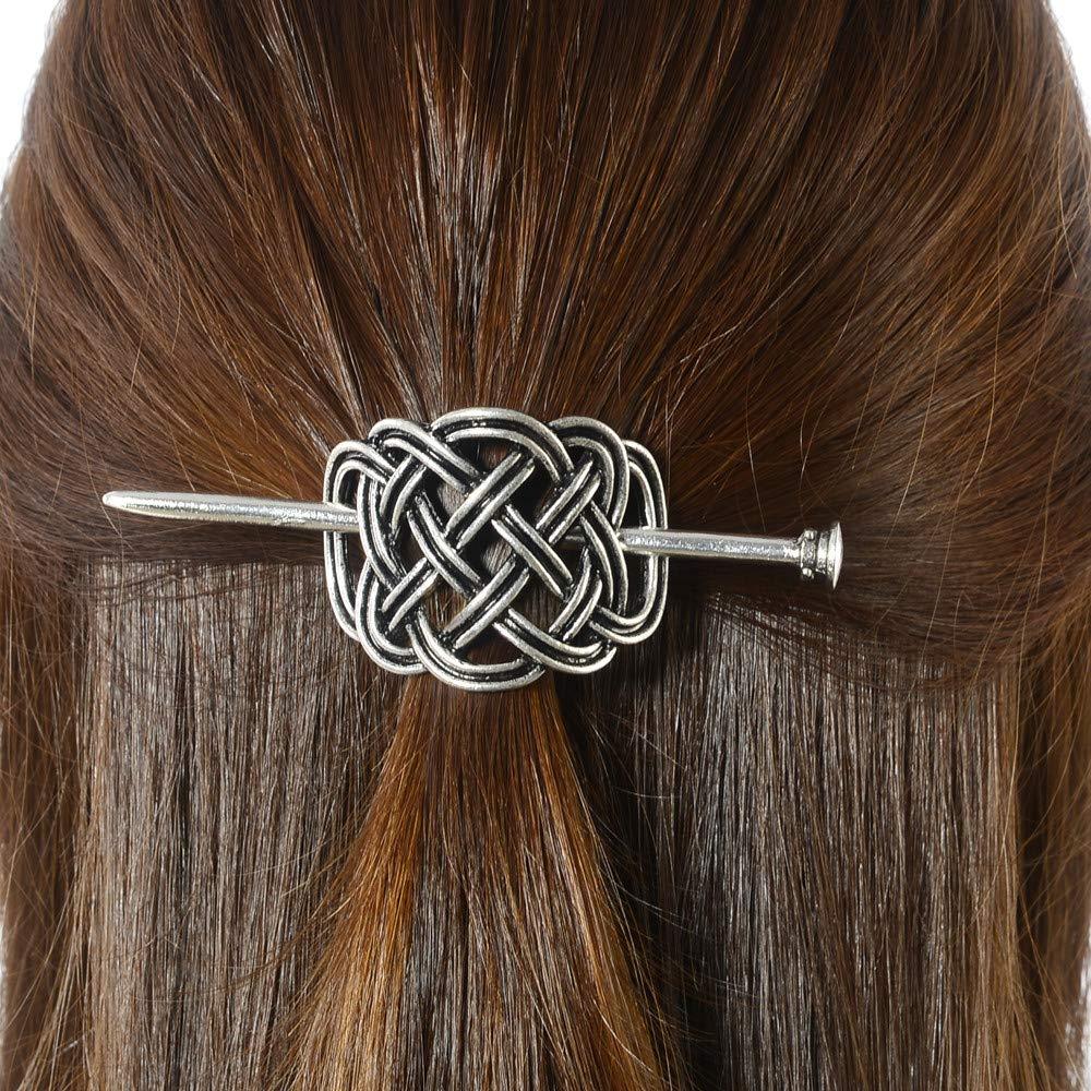 Long Hair Accessories Large Looping Celtic Crossed Knots Aluminum Hair Pin Hair Clip Hair Slide Hair Barrette Shawl Pin Celtic Knot