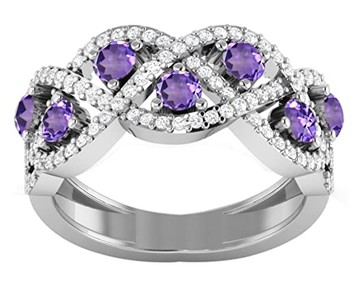 Banithani 925 Sterling Silver Amazing Amethyst Gemstone Ring Fashion Jewellery f1gu5ag