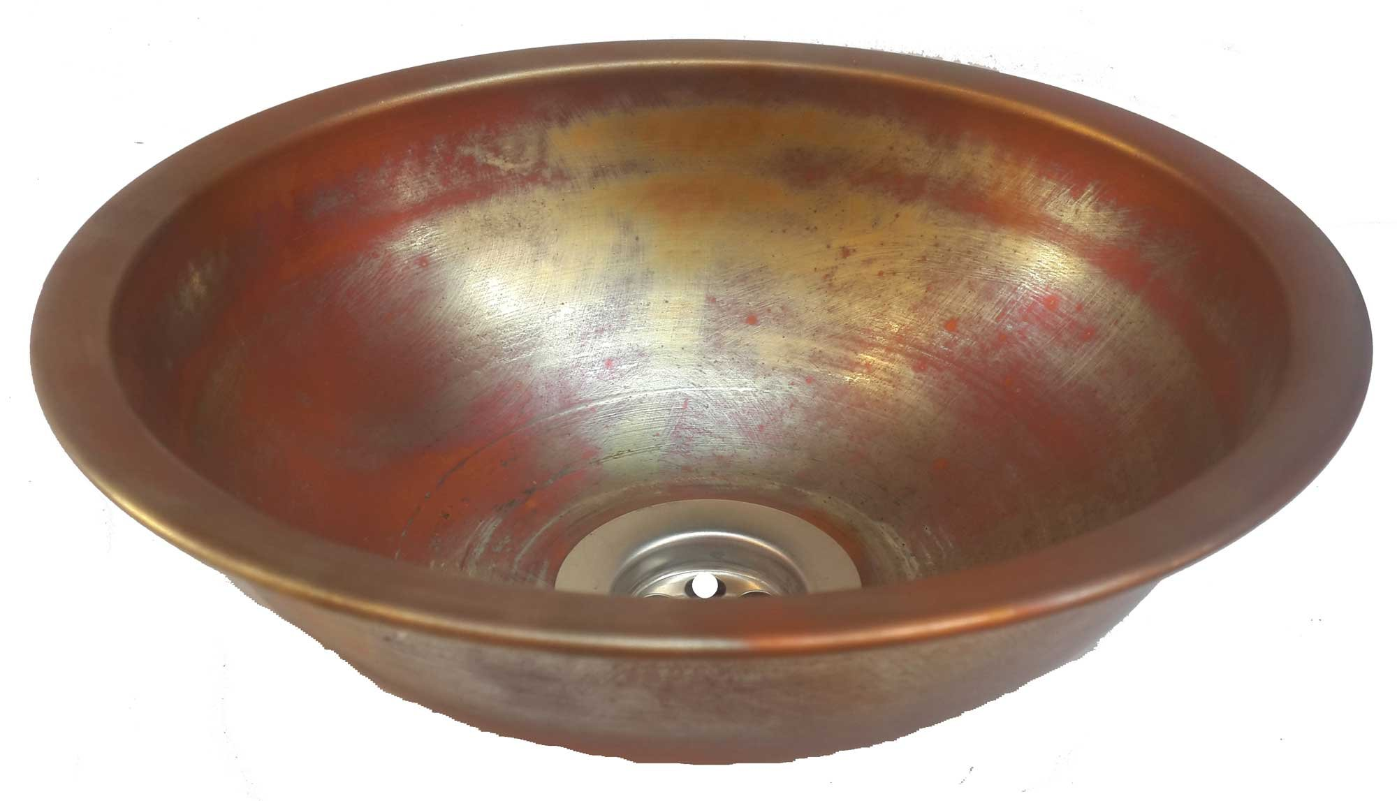 Egypt gift shops Satin Smooth Very Small Compact Copper Bowl Basin Toilet Bathroom Sink Lavatory Cabin Motor Van Caravan Portable Home Renovation by Egypt gift shops (Image #8)