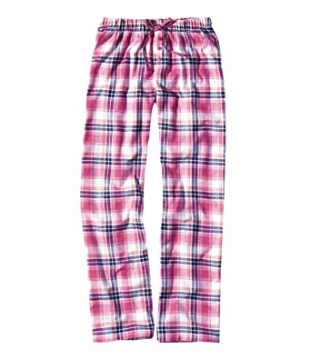 9a52fc857d3563 Mustang Damen Flanell Pyjama Hose lang 8531-1700, Farbe:Rosa;Wäschegröße: