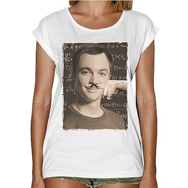 Bing Mustache Doigt Theory Sheldon Cooper Fashion T Femme Shirt Bang T1lcJ3uKF