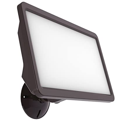 Good Earth Lighting Commercial Sized Led Switch Controlled Flood Light Bright White Light 50000 Hours Lamp Life Direct Wire Installation