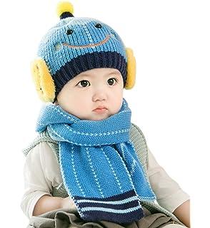 7142300fc2af0 YY-Shop ベビー帽子 マフラー 二点セット 男の子 女の子 新生児 秋冬 ニット キッズ帽子