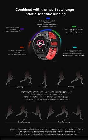 NO.1 F5 inteligente reloj IP67 a prueba de agua del ritmo cardíaco del monitor de GPS Múltiples modos de deportes OLED altímetro Bluetooth rastreador ...