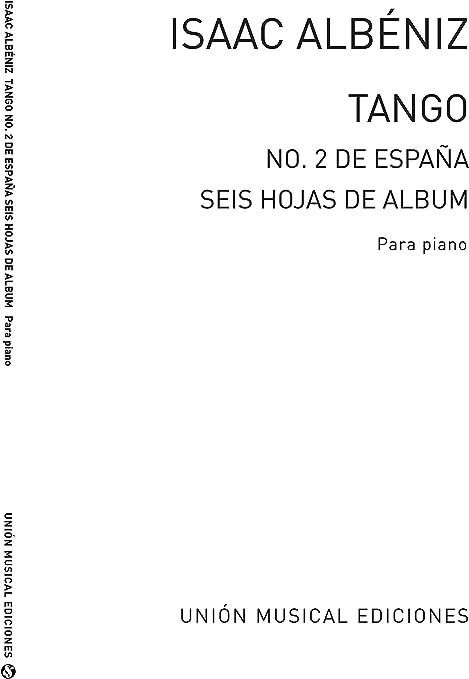 Albeniz Tango In de From Espana Op.165 No.2-Piano partituras ...