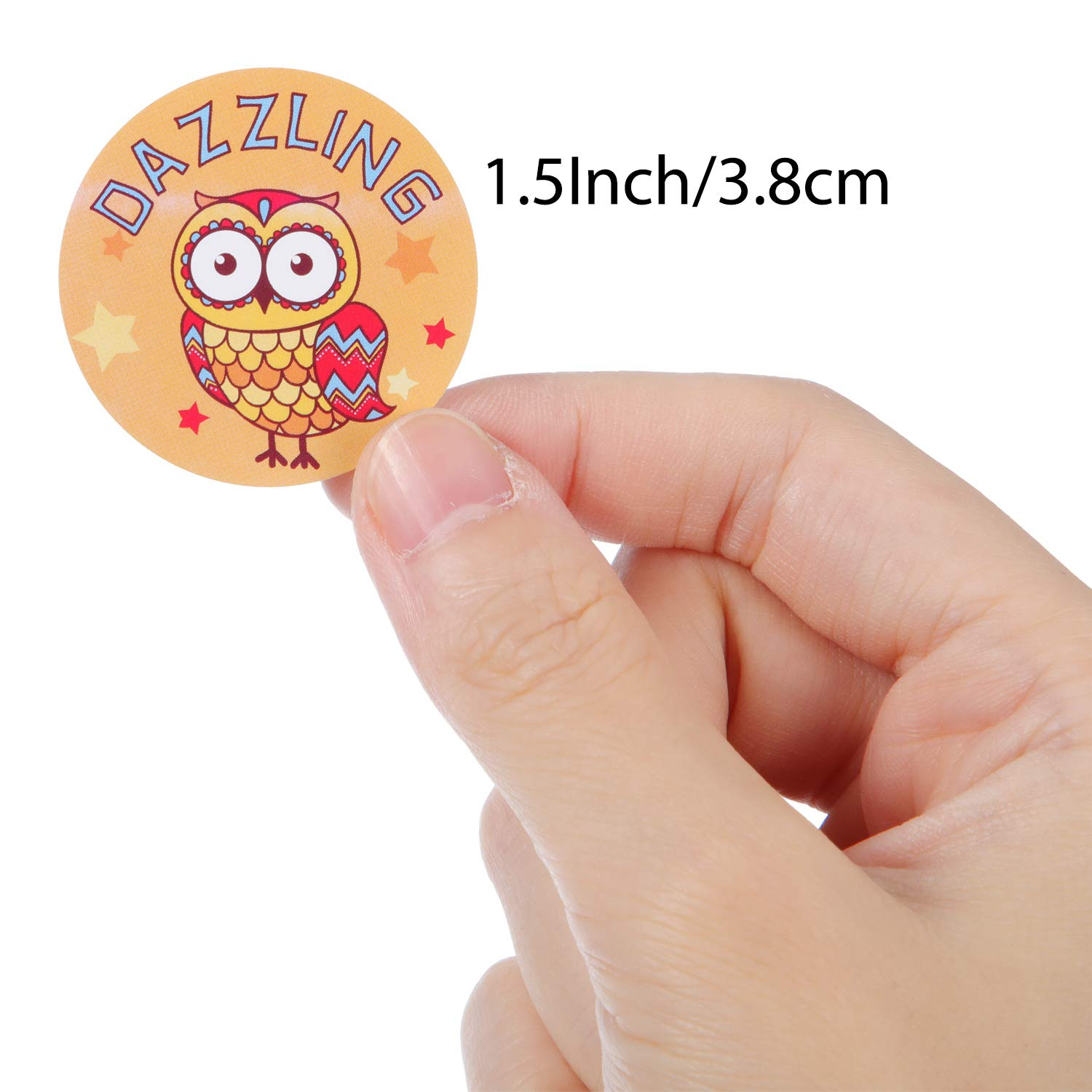 240 Pieces Animal Reward Stickers 1.5 Inches Classroom Motivational Incentive Stickers for Encouragement 16 Designs Teachers Students