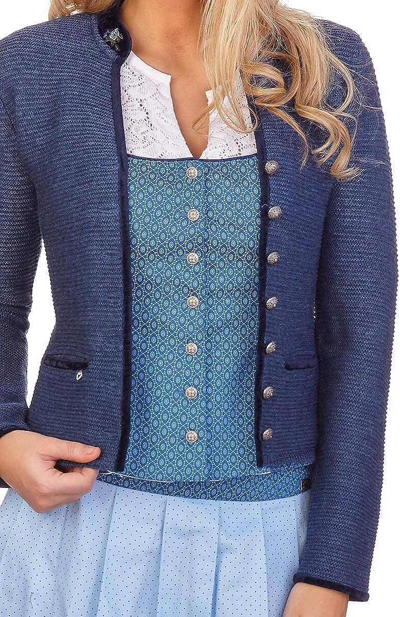 zartrosa Malta Jeansblau Trachten Strickjacke