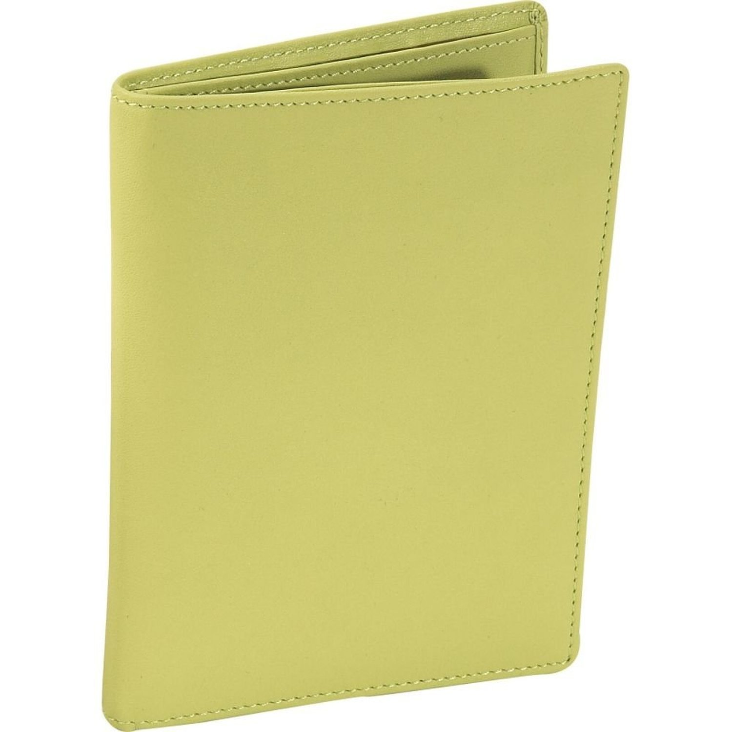 Leather Passport Wallet - Lime Green (Lime Green) (5.5''H x 4''W x .5''D) by Royce Leather